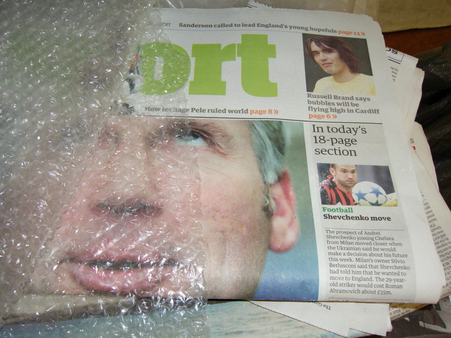 Blindsight newspaper obfuscated by Tanvir Bush