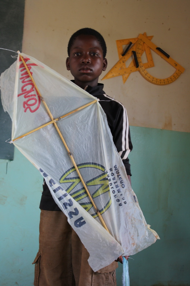 MacGyver mealie meal bag kite by Tanvir Bush