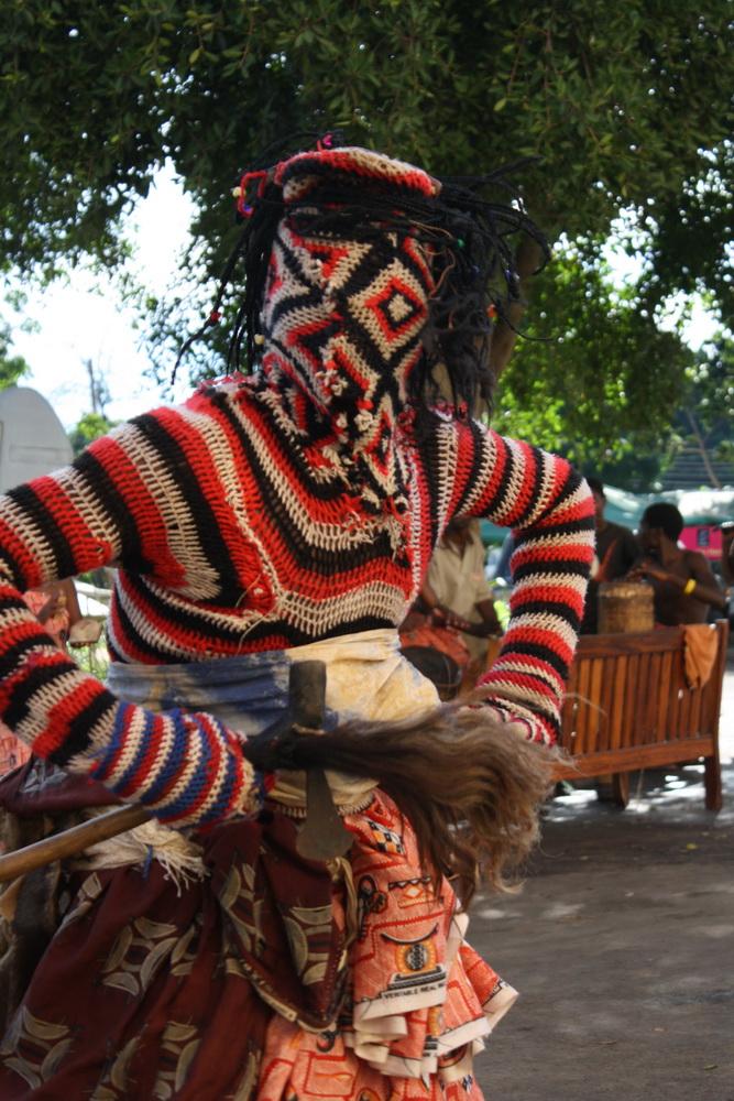 Makishi dancer 2 2009 by Tanvir Bush
